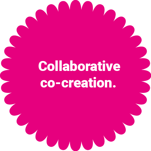 Explore collaborative co-creation.