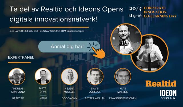 Corporate Innovation Co-Learning Day – Finans, försäkring & pension