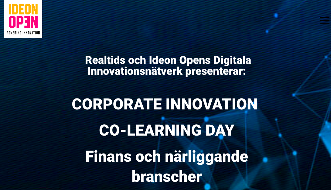 Corporate Innovation Co-Learning Day – Finance and surrounding sectors